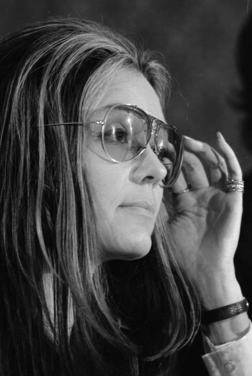 Gloria Steinem at news conference Womens Action Alliance January 12 1972