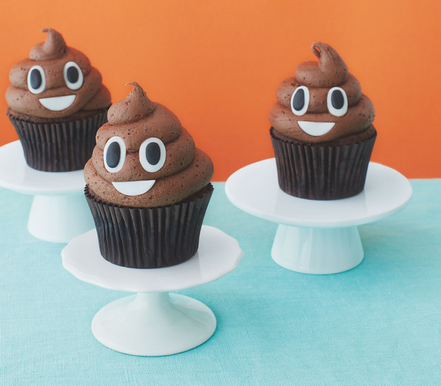 A Recipe For Poop Emoji Cupcakes For When Everything In