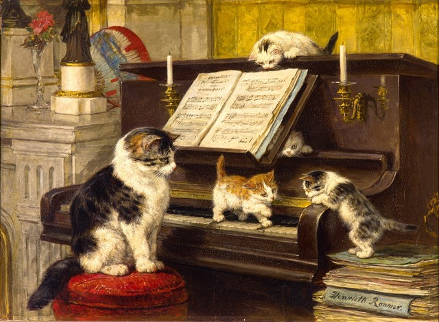 the piano lesson by henric3abtte ronner knip 1897