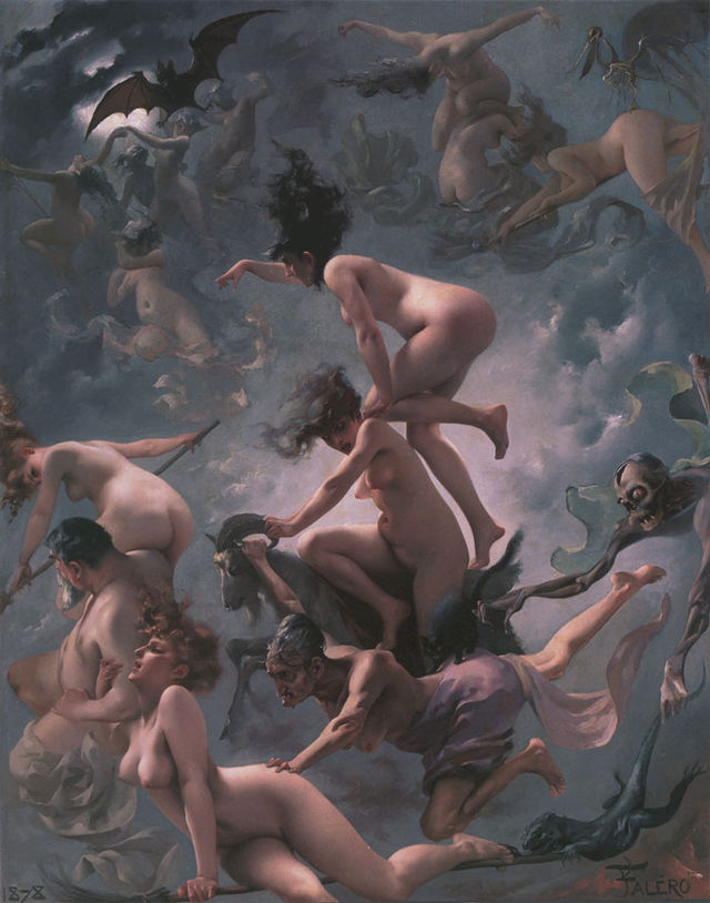 Witches going to their Sabbath 1878 by Luis Ricardo Falero b4bff