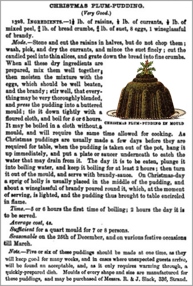 christmas plum pudding from beetons book of household management 1861 recipe 2