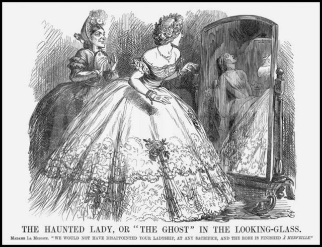 ghost in the looking glass john tenniel punch 1863 copy