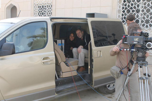 haifaa al mansour directing from the production van 50247 w1000