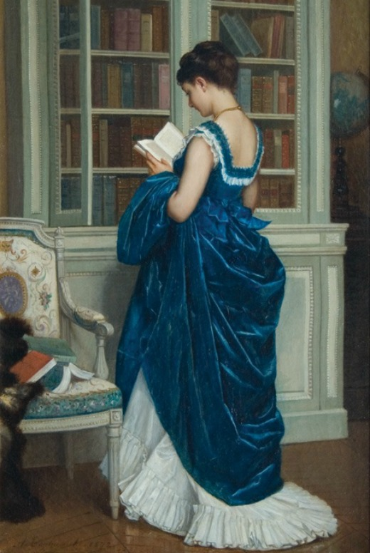 in the library by august toulmouche 1872