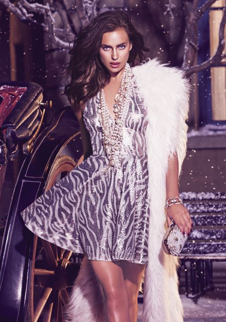irina shayk bebe winter in wonderland holiday collection 1