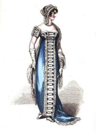evening dress la belle assemblee june 1812
