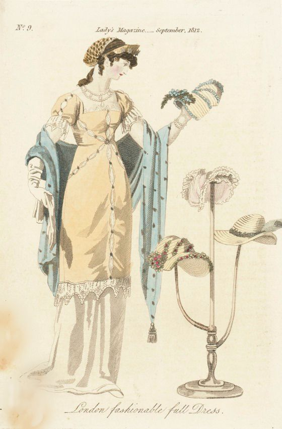 fashionable full dress the ladys magazine london september 1812