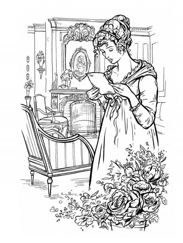 jane austen coloring pages - this jane austen adult coloring book lets you doodle mr darcy