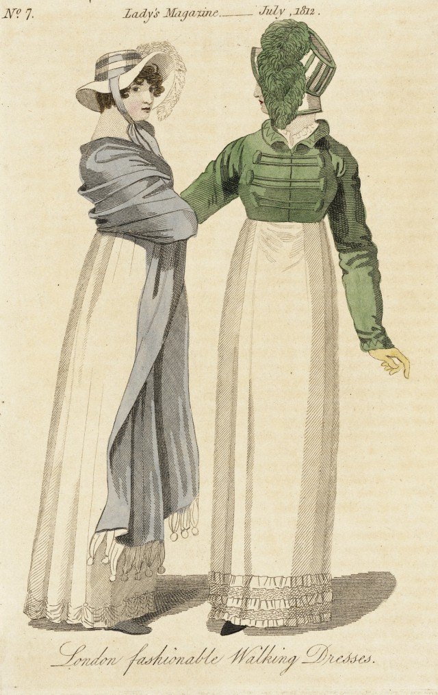the ladys magazine london fashionable walking dresses july 1812