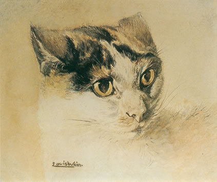 a naturalistic cat by louis wain 1860 e28093 1939