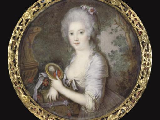 miniature of princess frederikke of denmark by cornelius hoyer 1792