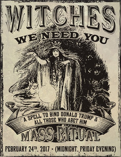 Witches Around The World Are Casting A Spell On Trump, And