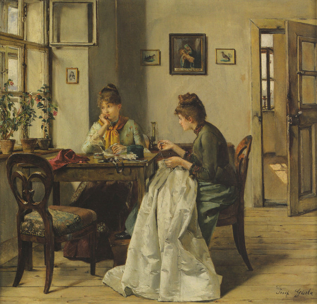 the seamstress by josef gisela 1897