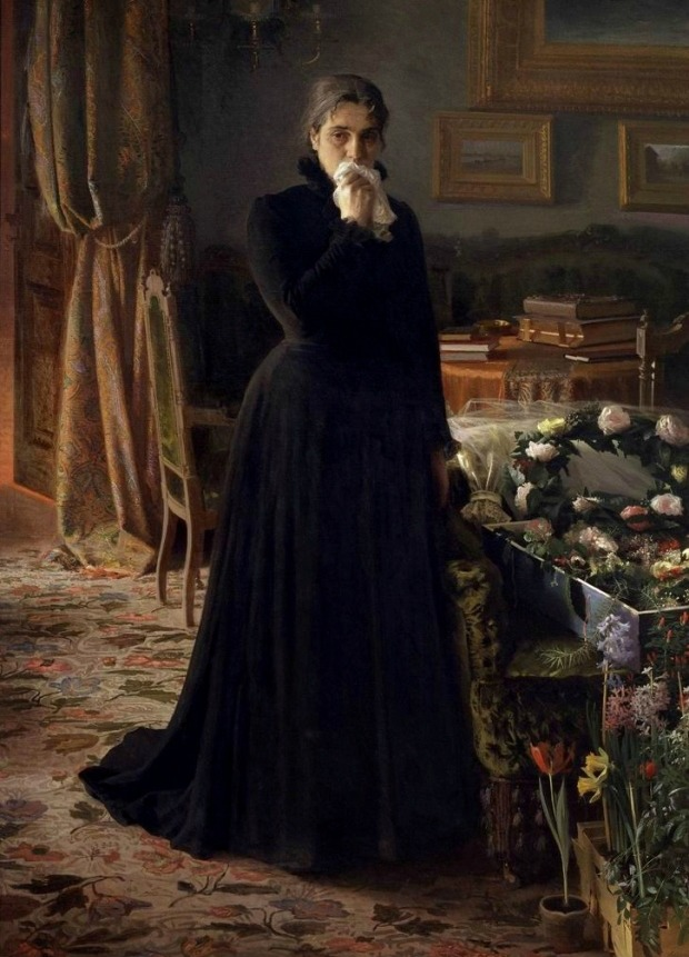 inconsolable grief by ivan kramskoi 18841