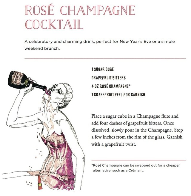 Rose champagne cocktail copy