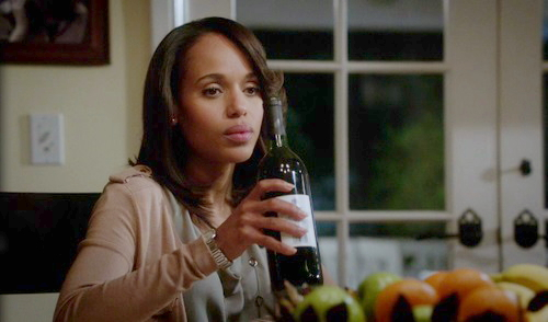 olivia pope with wine