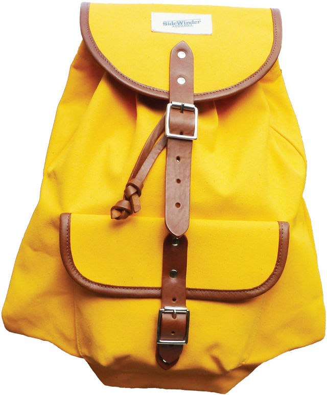 web yellow backpack 12681