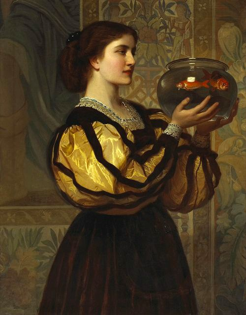 the goldfish bowl by charles edward perugini 1870 1