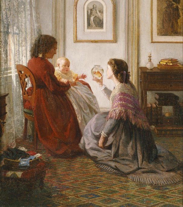 the shattuck family with grandmother mother and baby william by aaron draper shattuck 1865 2 via brooklyn museum copy