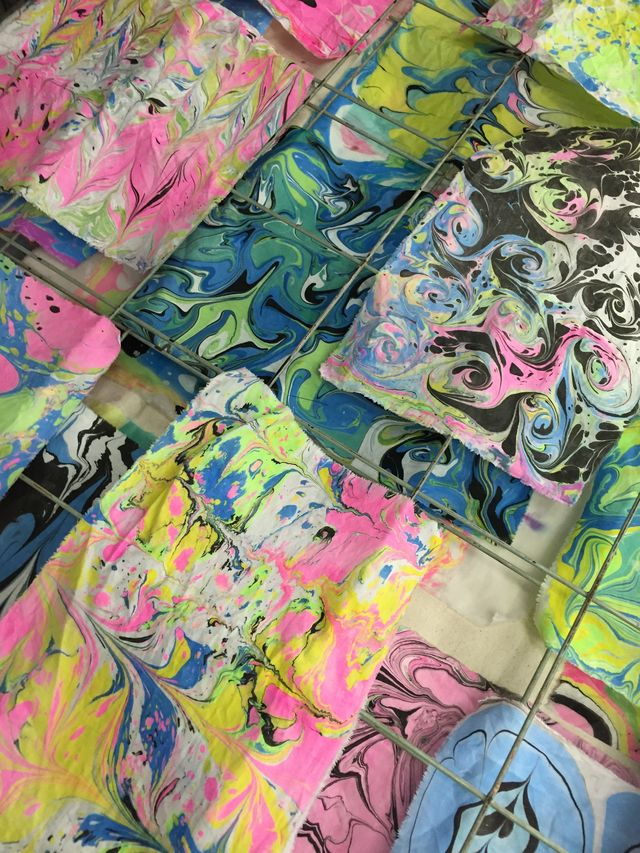 Fabric Marbling with the Textile Arts Center