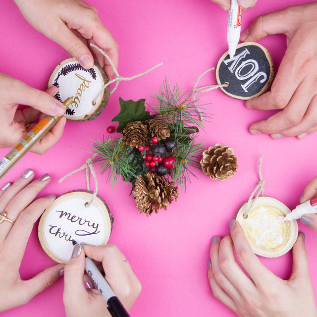 DIY Wooden Holiday Ornaments with Craft Jam