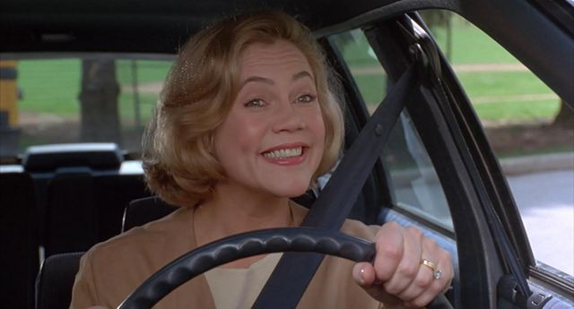 "A favorite ""Mum in films"" at the driving wheel."