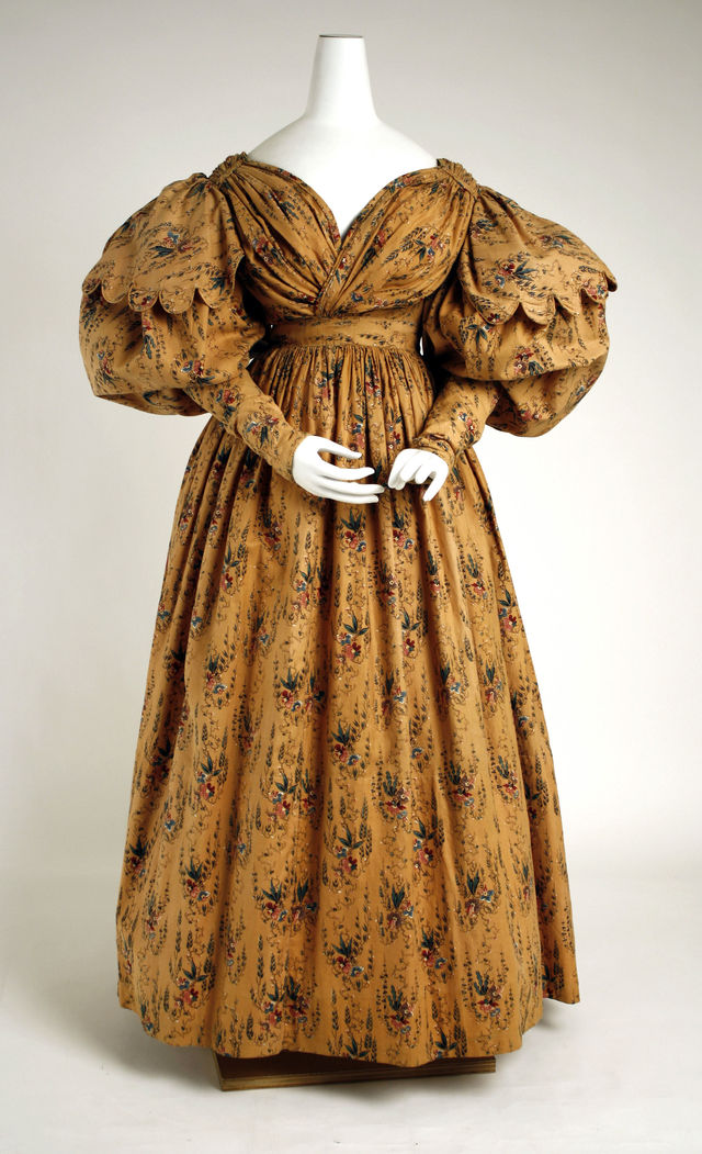 1830 british cotton walking dress via met museum 591e3