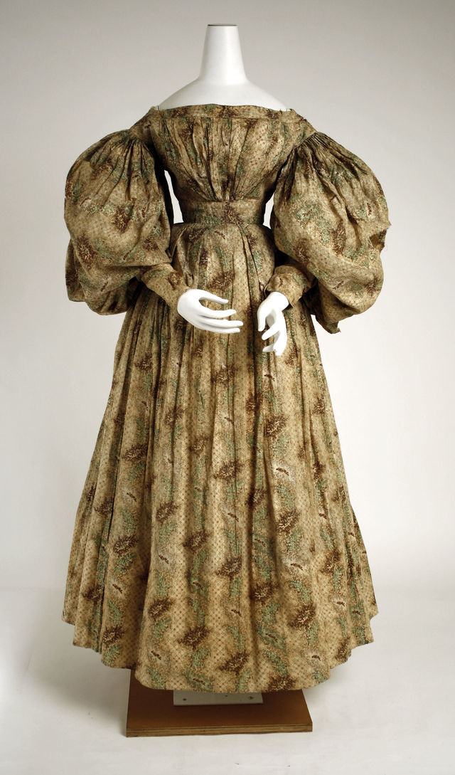 1832 american cotton day dress via met museum image 2 5fbbe