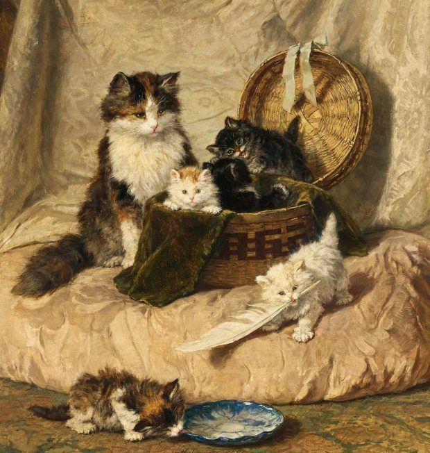 Kittens at Play by Henriette Ronner Knip 1821 1909. e1517276180652 bf080