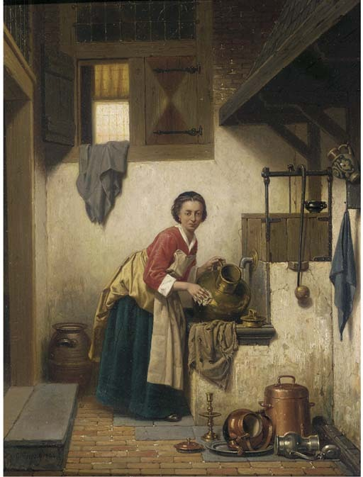 a scullery maid at work by charles joseph grips 1866 e1f45