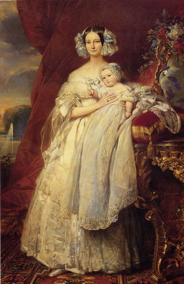 portrait of helena of mecklemburg schwerin duchess of orleans with her son the count of paris by winterhalter 1839 71097