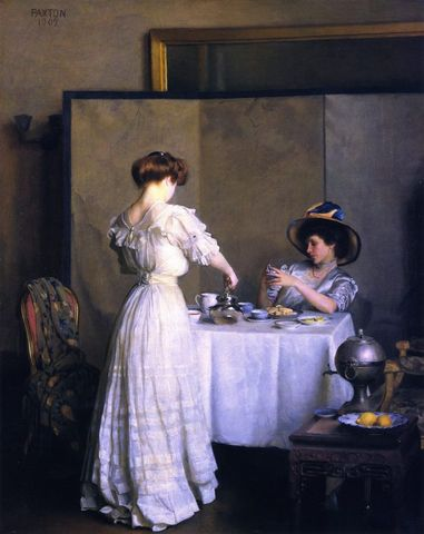 Tea Leaves by William Paxton 1909 via Met Museum e1531722287531 94b1c