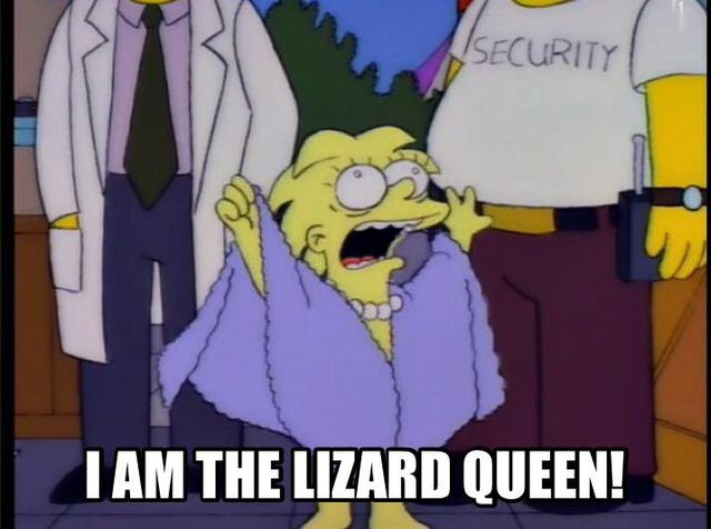 simpsons i am the lizard queen c277b