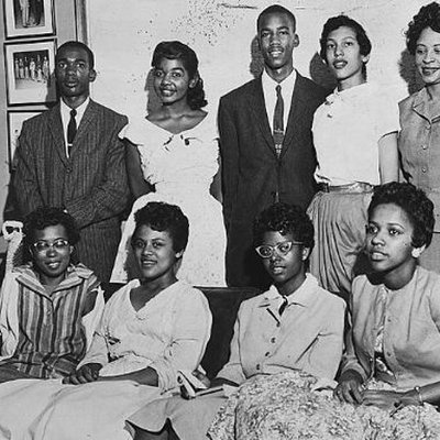 members of the little rock nine pose together 1957 5246a