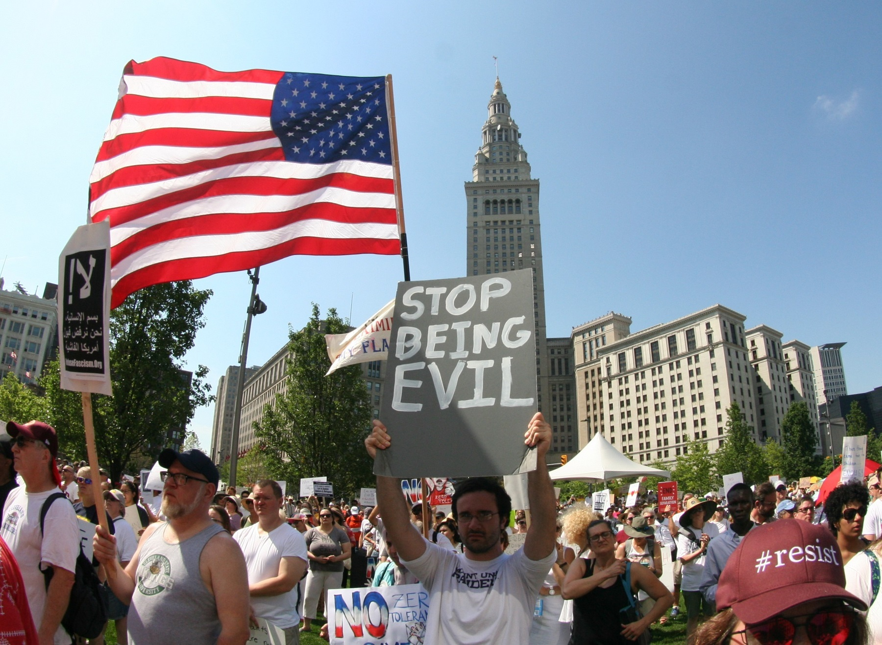 Rally to end Family Separation Cleveland daab0