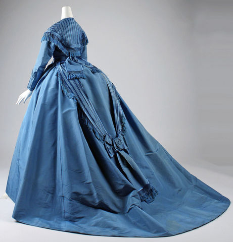 1867 depret french silk dress side view via met museum 34d33