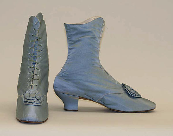 1870s american or european silk shoes via met museum a1458