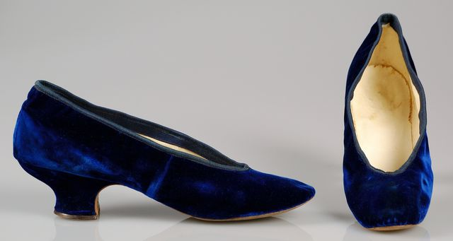 1885 blue silk evening slippers via met museum 0c902