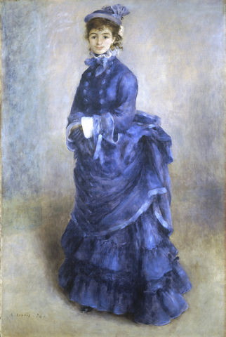 la parisienne the blue lady by pierre auguste renoir 1874 6907d