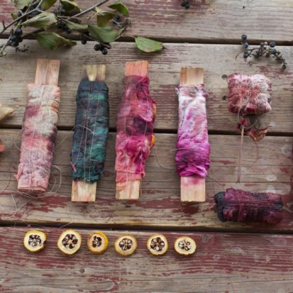 Bundle Dyeing with The Textile Arts Center