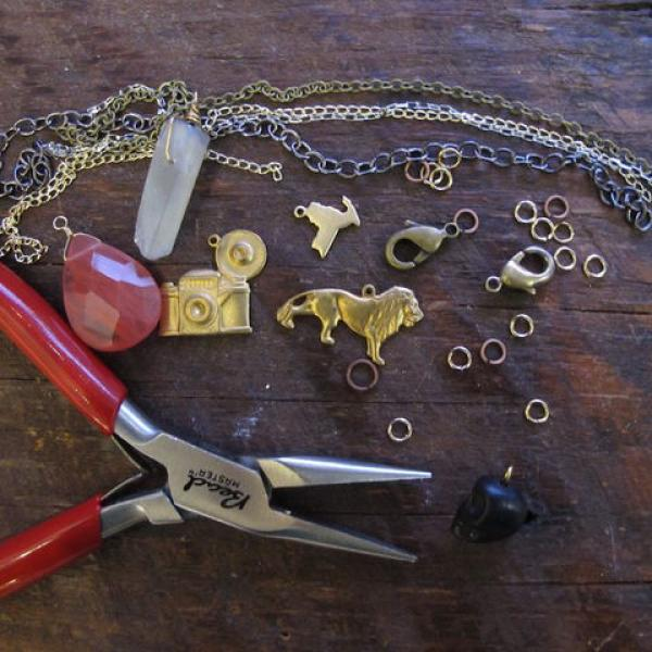 Charm Necklace or Bracelet Workshop with Brooklyn Charm