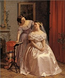 the bride adorned by her friend by henrik olrik 1859